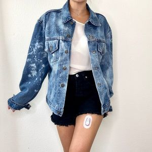 VTG Desert Blue Upcycled Acid Wash Jean Jacket